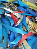 Ratchet strap. For industrial cargo royalty free stock photo