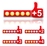 Rate buttons Royalty Free Stock Photos