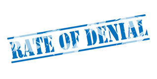 Rate of denial blue stamp. Isolated on white background Royalty Free Stock Photo