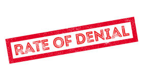 Rate of Denial rubber stamp. On white. Print, impress, overprint Royalty Free Stock Photography
