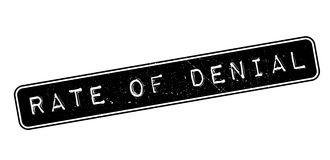 Rate of Denial rubber stamp. On white. Print, impress, overprint Royalty Free Stock Images
