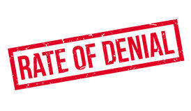 Rate of Denial rubber stamp. On white. Print, impress, overprint Stock Photos