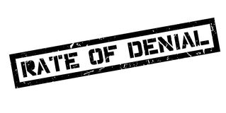 Rate of Denial rubber stamp. On white. Print, impress, overprint Stock Images