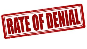 Rate of denial. Stamp with text rate of denial inside,  illustration Stock Photography