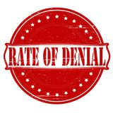 Rate of denial. Stamp with text rate of denial inside,  illustration Royalty Free Stock Photography