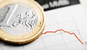 Rate des Euros (flacher DOF) Lizenzfreies Stockbild
