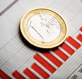 Rate des Euros (flacher DOF) Stockfoto