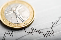 Rate of euro (shallow DOF) Stock Photography