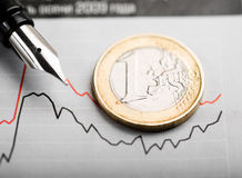 Rate of euro (shallow DOF) Stock Photos