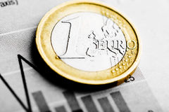Rate of euro (shallow DOF) Royalty Free Stock Photo