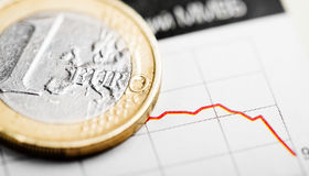 Rate of euro (shallow DOF) Royalty Free Stock Image