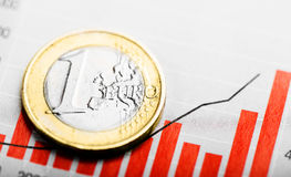 Rate of euro (shallow DOF) Stock Images