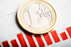 Rate of euro (shallow DOF) Royalty Free Stock Photos
