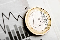 Rate of euro (shallow DOF) Stock Image
