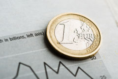 Rate of euro (shallow DOF) Royalty Free Stock Images