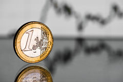 Rate of the euro  (shallow DOF) Stock Photo
