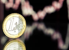 Rate of the euro  (shallow DOF) Royalty Free Stock Image
