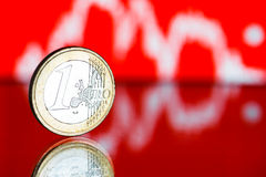 Rate of the euro  (shallow DOF) Stock Images