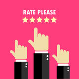 Rate hands poster Royalty Free Stock Image