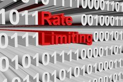 Rate limiting. In the form of binary code, 3D illustration Royalty Free Stock Photo