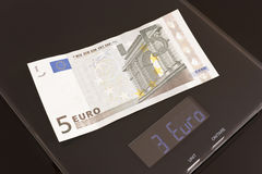 Rate meter, euro devalue. Euro is under scaling Royalty Free Stock Photography