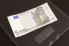 Rate meter, euro prosperity. Euro is under scaling Stock Photography