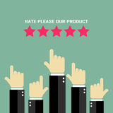 Rate our product poster Royalty Free Stock Images