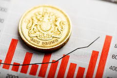 Rate of the pound sterling (shallow DOF) Stock Photo