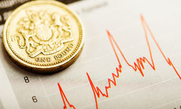 Rate of the pound sterling (shallow DOF) Stock Photography