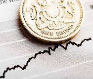Rate of the pound sterling (shallow DOF) Royalty Free Stock Photography