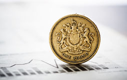 Rate of the pound sterling shallow DOF Royalty Free Stock Images