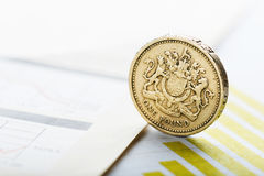 Rate of the pound sterling shallow DOF Stock Photography