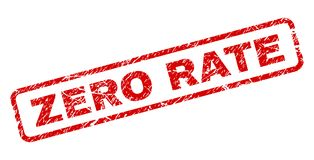 RATE Rounded Rectangle Stamp ZÉRO rayé illustration stock