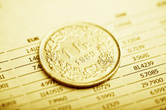 Rate of the Swiss Franc Royalty Free Stock Images