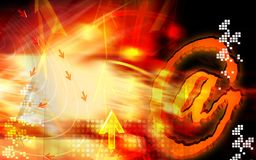 At the rate symbol Stock Photo