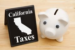 The rate of taxes in the state of California USA Stock Photo