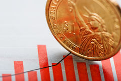Rate of the us dollar shallow DOF Royalty Free Stock Photo