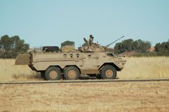 Ratel 20 troop carrier. And assault vehicle from the South African National Defence Force Stock Photo