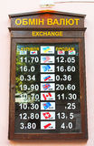 Rates of currency exchange Royalty Free Stock Image