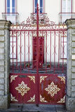 Rates Metal Gate Royalty Free Stock Photography