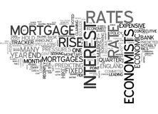 Are Rates Set For A Hikeword Cloud Stock Images