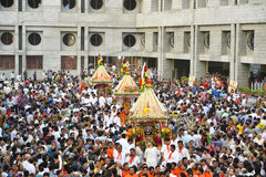Rath Yatra de Lord Jagannath le 137th commence à Ahmedabad, Rath Yatra image libre de droits