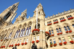 Rathaus在维也纳,奥地利 图库摄影