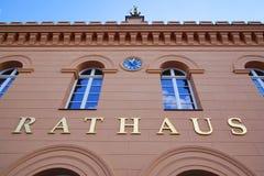 Rathaus市政厅在什未林德国 免版税库存图片