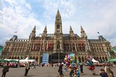 Rathaus,维也纳 免版税图库摄影