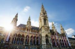 Rathaus, Österreich Rathaus Wien des Wiener Würstchens Stockfotos