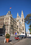 Rathaus (αίθουσα πόλεων) στη Βιέννη, Αυστρία Στοκ Φωτογραφίες