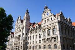 rathaus της Γερμανίας Λειψία neues Στοκ Εικόνες
