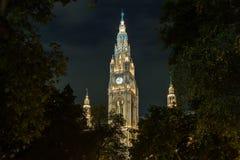 Rathaus в вене Австрии Стоковое фото RF