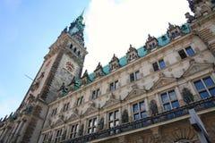 Rathaus, Гамбург, Германия Стоковое Изображение RF